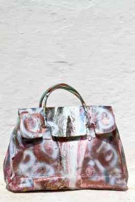 Grandmother Bag Collection #14, 2013 graffiti bag. unique size, unique piece
