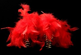 Criminal Aesthetic Fashion #14, 2013, plumes and studs, size n37 / 6 1/2, unique piece