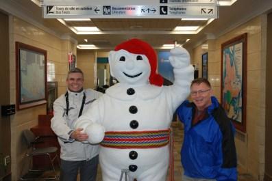 Andy & me with the Bonhomme Carnaval snowman mascot, Ville de Québec