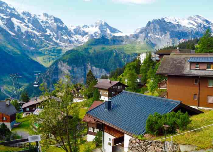 18 – Cable Car to the Car-less Village of Mürren in the Swiss Alps