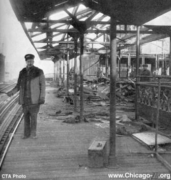 Damen/Lake CTA station in 1949
