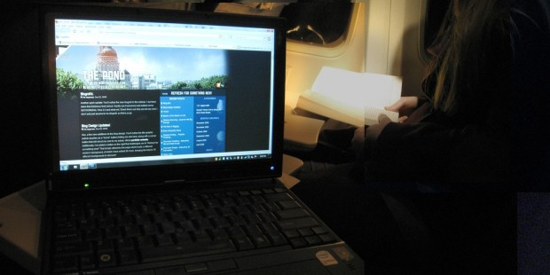 Blogging on a plane - photo