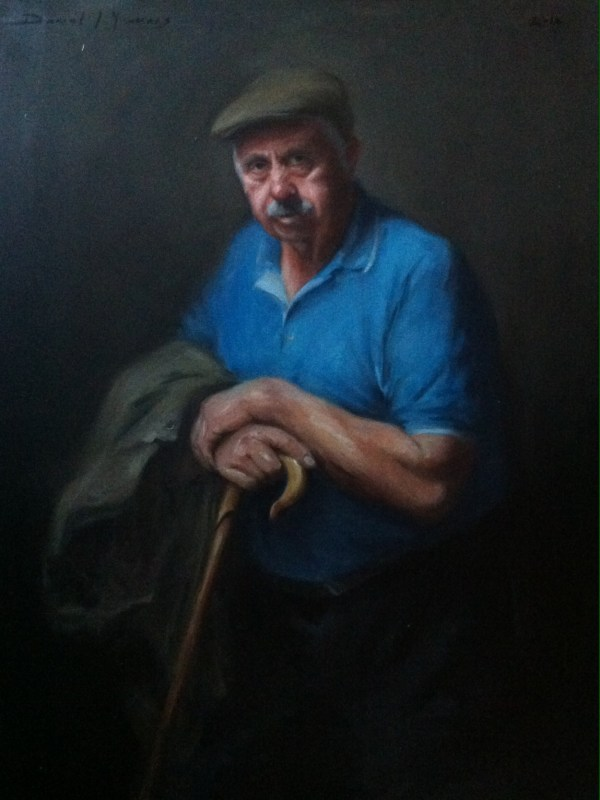 Oil portrait: Don the storyteller