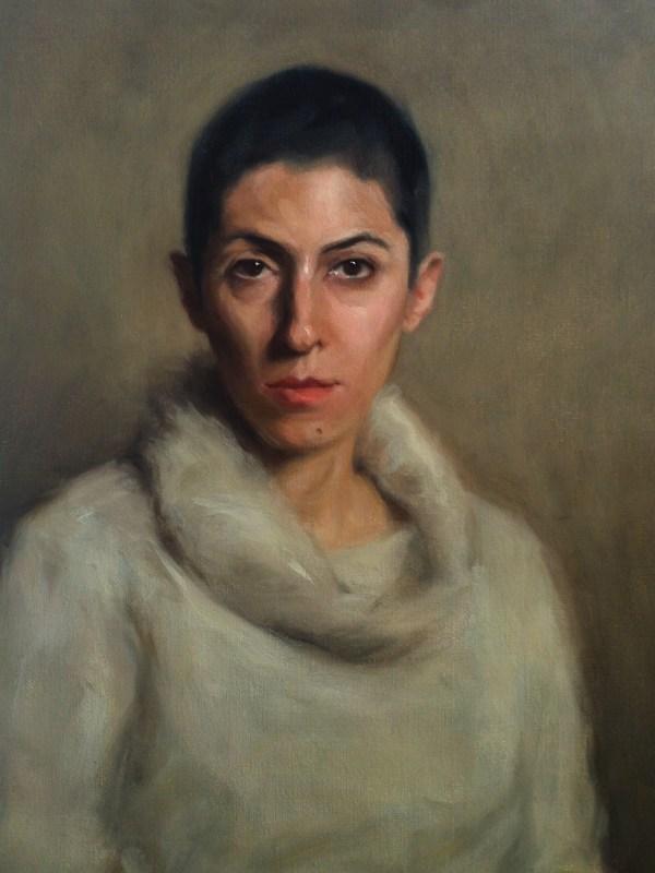 Oil portrait: Zambia the artist