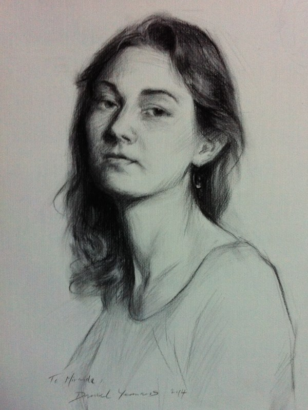 Charcoal portrait: Miranda