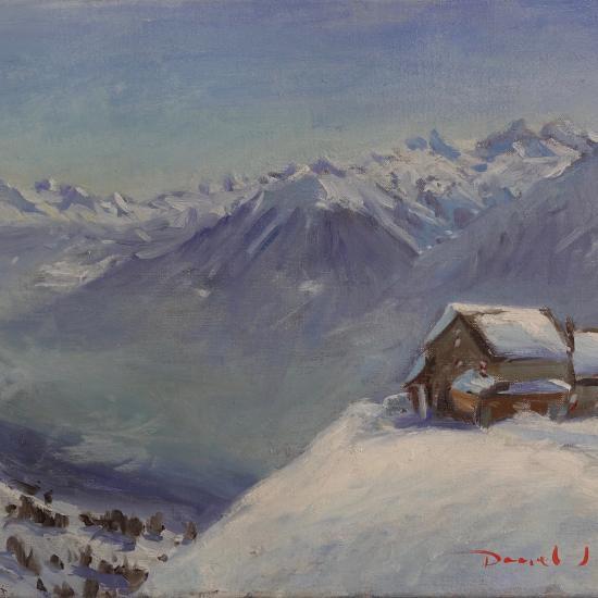 oil painting ofCabane des Violettes