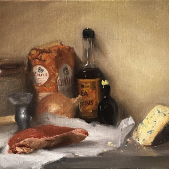 Still life painting - making steak & stilton Pie