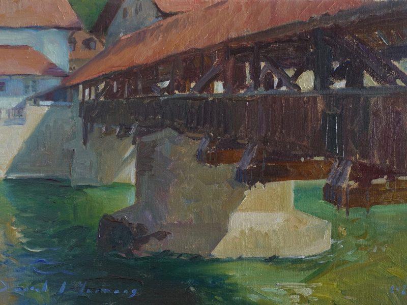 Pont de Bern - Peinture en huile