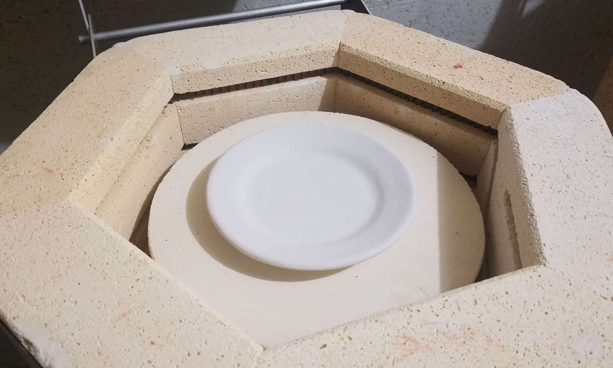 loading the kiln with test plates