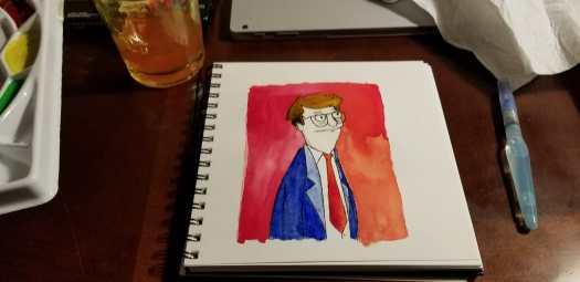 bob's burgers - Mort watercolor
