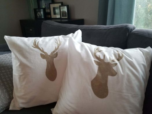 jess' fabric painted pillow cases