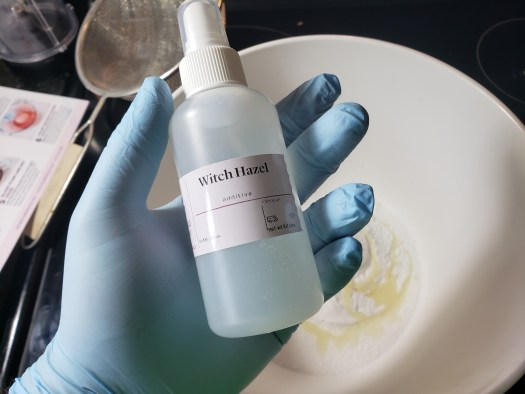 Spray bottle of Witch Hazel which comes in the kit
