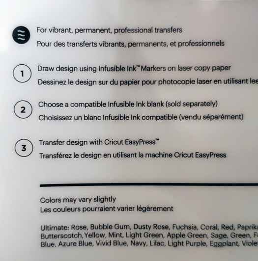 infusible ink marker instructions