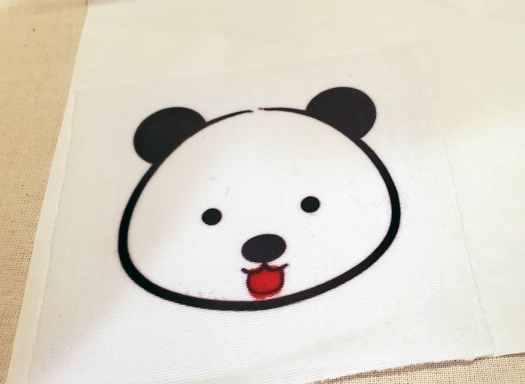 don't draw directly on the cloth