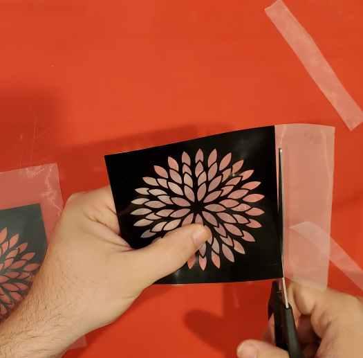 cutting off the excess silkscreen