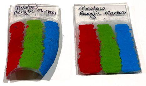 Molotow Acrylic Markers on Shrinky dinks