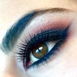 winged liner & smokey eye look