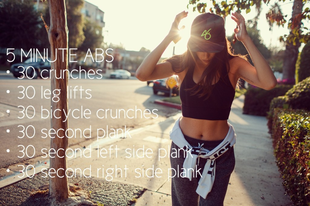 Workout Wednesday: 5 Minute Abs