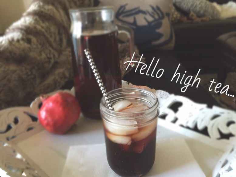 Homemade Pomegranate High Tea
