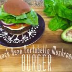 Black Bean Portobello Mushroom Burger