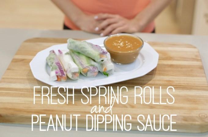 Fresh Spring Rolls & Peanut Dipping Sauce