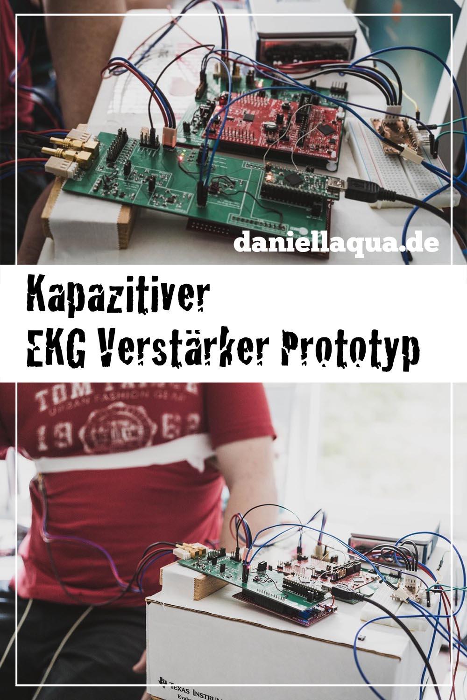 Prototyp kapazitiver EKG Verstärker