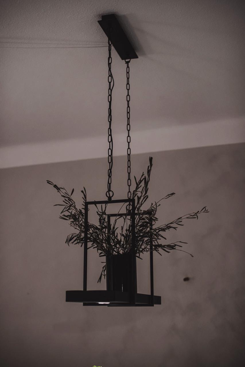 Deckenlampe mit Pflanzen