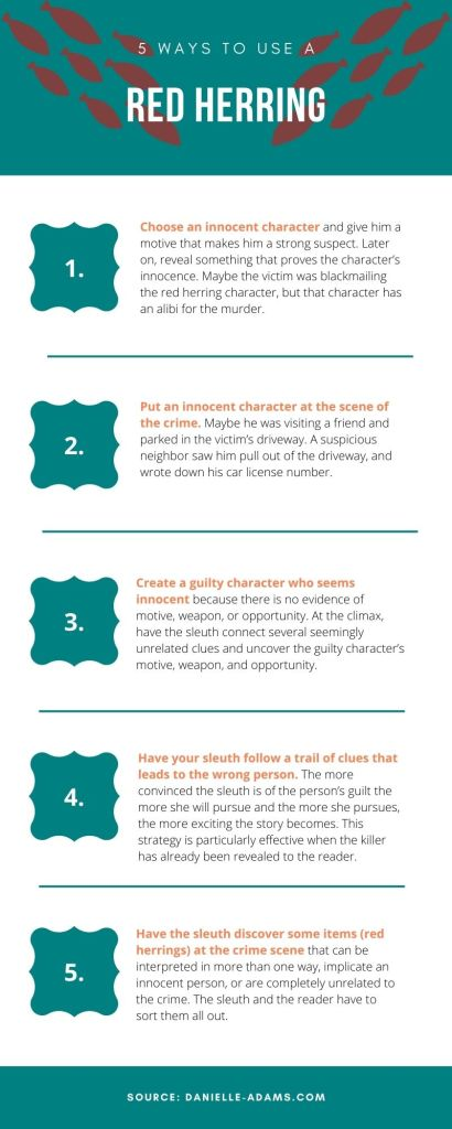 5 ways to use a red herring infographic