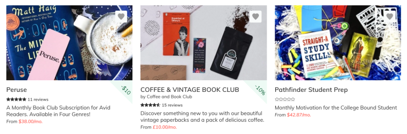 book subscriptions are popular in  the publishing industry in 2020