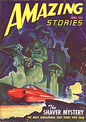 Amazing stories science fiction magazine cover