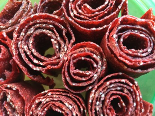 Easy Strawberry Chia Fruit Roll-Ups