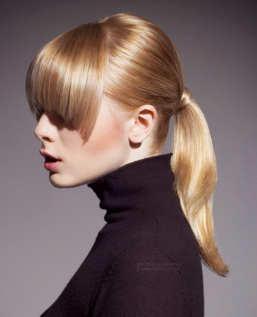 Hairdressing trends smooth shiny and sleek