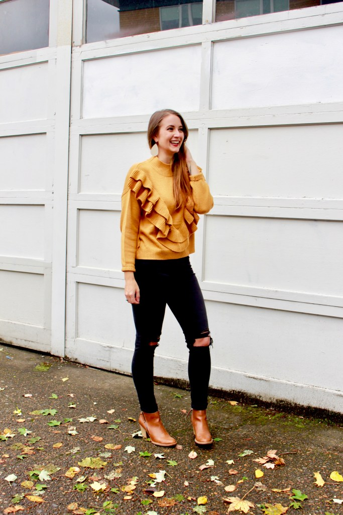 A simple fall outfit is perfect for a Sunday brunch with some blogger babes at Tusk in Portland, OR.