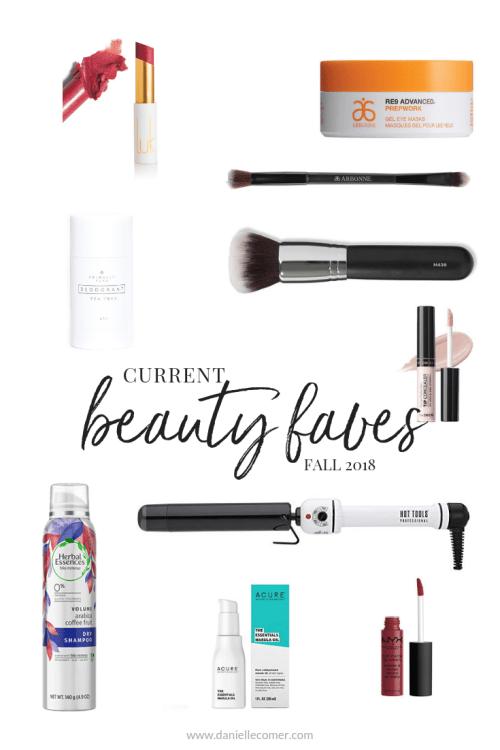 Current Beauty Faves - Danielle Comer Blog www.daniellecomer.com