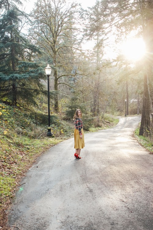 flannel and gold skirt 2 - Danielle Comer Blog
