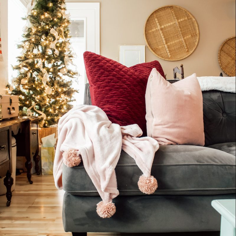 cozy winter decor target hearth and hand velvet square pillows - Danielle Comer Blog.jpg