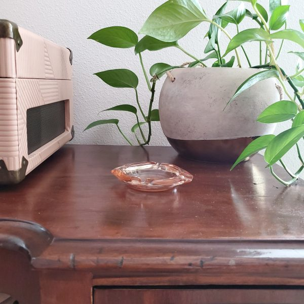 vintage blush ashtray - South by PNW Vintage
