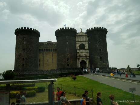 """Castel Nuovo (""""New Castle""""), also called Maschio Angioino (Italian: """"Angevin Keep"""") in Naples"""
