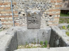 A water fountain in Pompeii