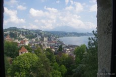 View of Lucere from one of the towers along the Musegg wall