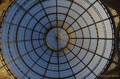 Center ceiling at the Galleria Vittorio Emanuele II, in Milan