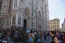 Military security at the Florence Duomo