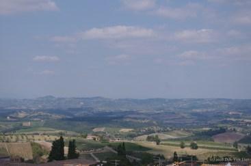 Tuscan Countryside from San Gimignano