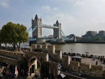 Tower Bridge from Tower of London grounds