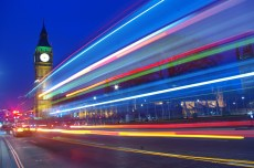 Palace of Westminster with motion blur