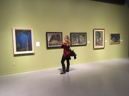 At the Art Gallery of Greater Victoria - looking at Emily Carr