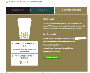 starbucks loyalty cards lattes