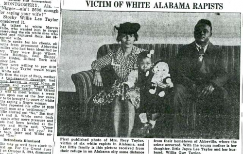 Recy Taylor: A Symbol of Jim Crow's Forgotten Horror