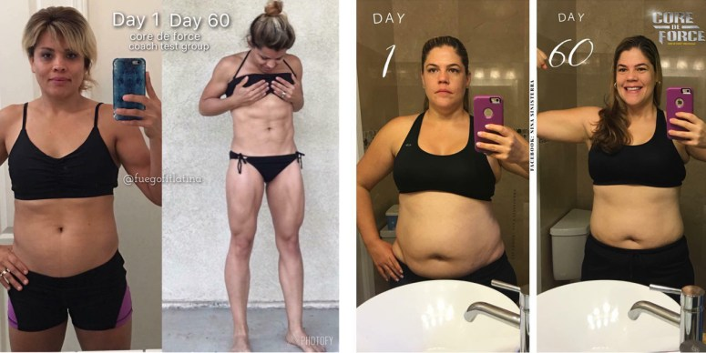 core de force transformations weight loss