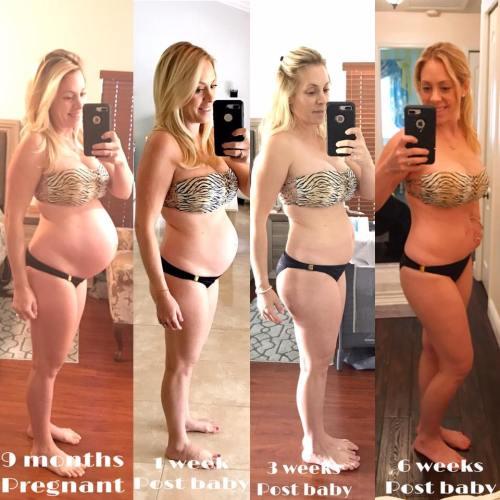 6 weeks postpartum weight
